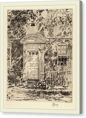 Childe Hassam, Portsmouth Doorway, American Canvas Print