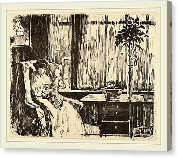 Childe Hassam, The Broad Curtain, American Canvas Print