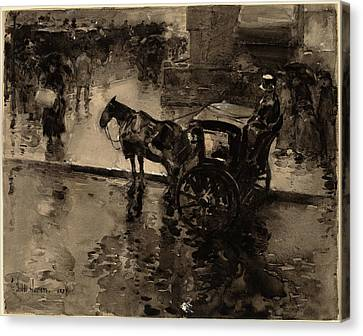 Childe Hassam, The Up-tide On The Avenue Canvas Print