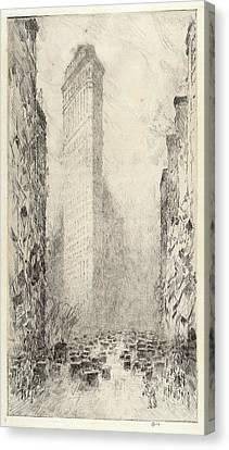 Childe Hassam, Washingtons Birthday, Fifth Avenue & 23rd Canvas Print