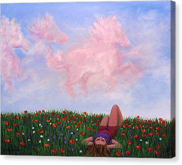Childhood Day Dreams Canvas Print by Janet Greer Sammons