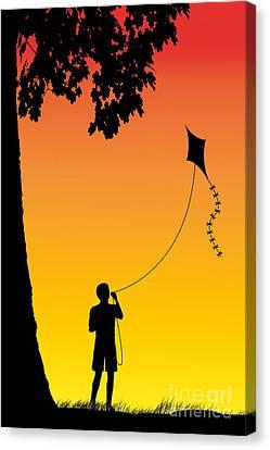 Childhood Dreams 1 The Kite Canvas Print