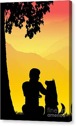 Nostalgia Canvas Print - Childhood Dreams 4 Best Friends by John Edwards