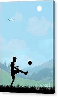 Childhood Dreams Football Canvas Print by John Edwards