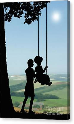 Childhood Dreams Push Me Canvas Print by John Edwards