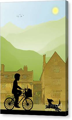 Childhood Dreams Special Delivery Canvas Print by John Edwards