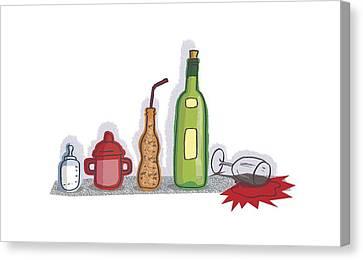 Childhood Drinking Habits, Artwork Canvas Print