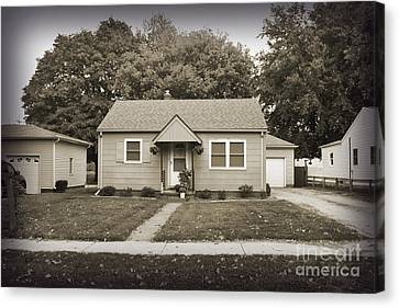 Childhood Home Canvas Print by Bob and Nancy Kendrick