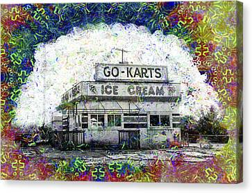 Go Cart Canvas Print - Childhood Memories by Bill Cannon
