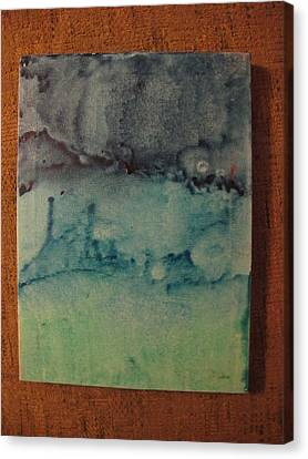 Canvas Print featuring the painting Childhood Moods by Lawrence Christopher