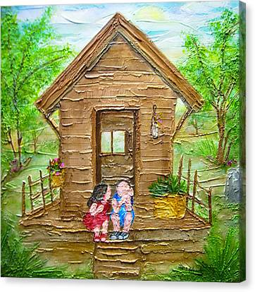 Childhood Retreat Canvas Print by Jan Wendt
