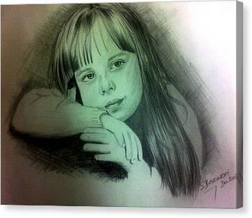 Childhood Canvas Print by Soumya Bouchachi