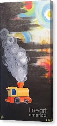 Childhood Train Canvas Print by Laura Enninga