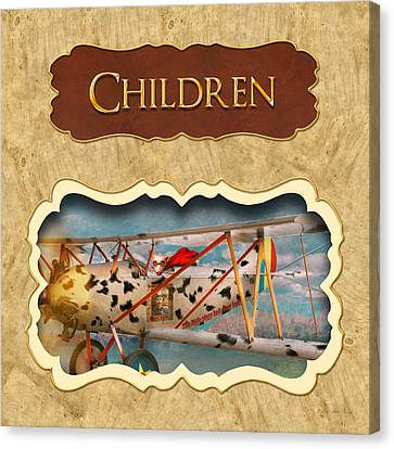 Children Button Canvas Print by Mike Savad