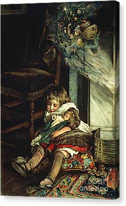 Children Dreaming Of Toys Canvas Print