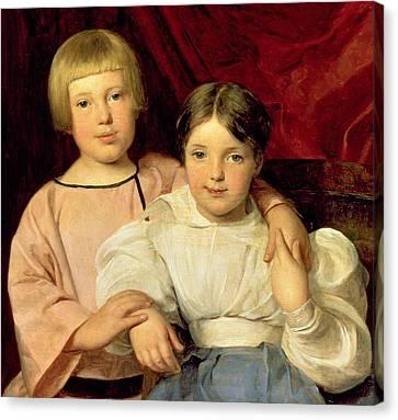 Children Canvas Print by Ferdinand Georg Waldmuller