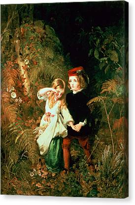 Children In The Wood Canvas Print by James Sant