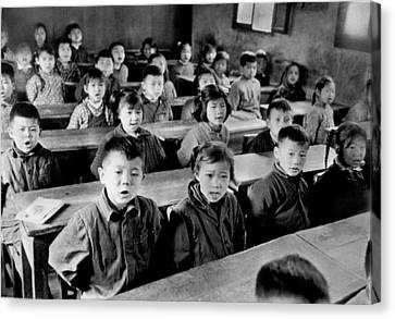 Children Sing At School In Shanghai Canvas Print by Retro Images Archive