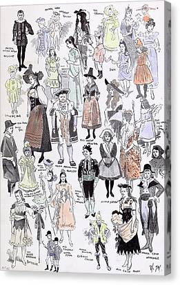 Old School Houses Canvas Print - Childrens Fancy Dress At The Mansion House 1892 Mastor by English School
