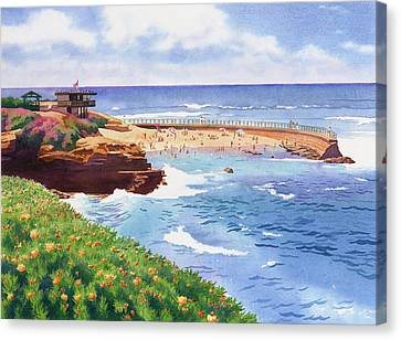 Children's Pool In La Jolla Canvas Print by Mary Helmreich