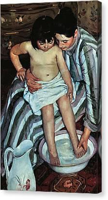 Matron Canvas Print - Child's Bath by Mary Cassatt