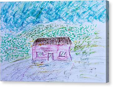 Child's Drawing Canvas Print