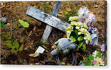 Child's Grave Canvas Print by Jeff Lowe
