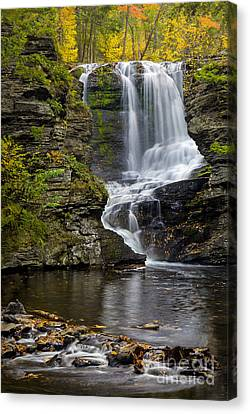 Childs Park Waterfall Canvas Print by Susan Candelario