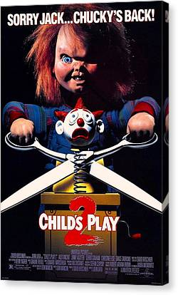 Chucky Canvas Print - Childs Play 2  by Movie Poster Prints