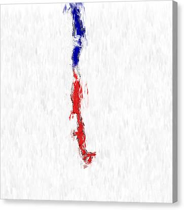 Chile Painted Flag Map Canvas Print by Antony McAulay