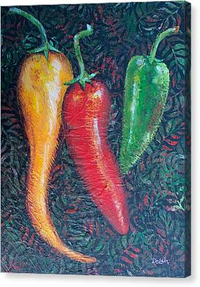 Chili Pepper Madness Canvas Print by Susan DeLain