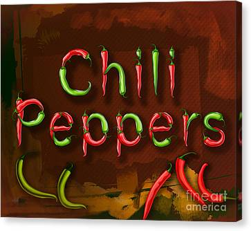 Chili Peppers Canvas Print by Bedros Awak