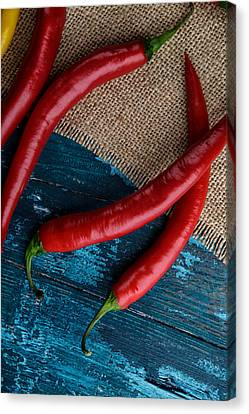 Chili Peppers Canvas Print by Nailia Schwarz
