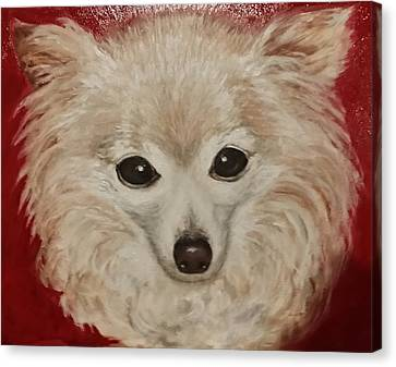 Canvas Print featuring the painting Chilli Dog by Sandra Nardone