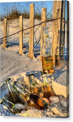 Chillin In Destin Canvas Print by JC Findley