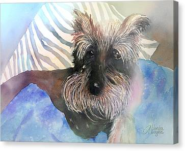 Canvas Print featuring the painting Chilling Out by Arline Wagner