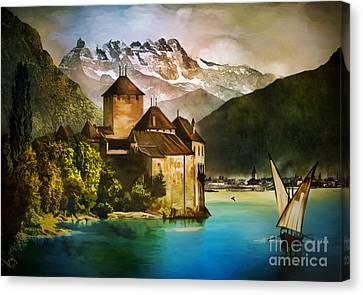 Chillon Castle  Canvas Print by Andrzej Szczerski