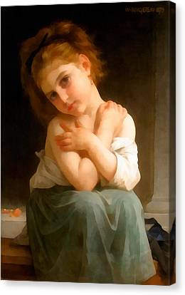 Chilly Girl Canvas Print by William Bouguereau