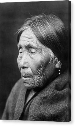 Chimakum Indian Woman Circa 1913 Canvas Print by Aged Pixel