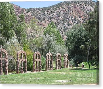 Canvas Print featuring the photograph Chimayo Sanctuary In New Mexico by Dora Sofia Caputo Photographic Art and Design