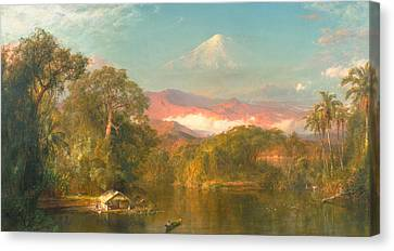 Chimborazo Canvas Print by Frederic Edwin Church