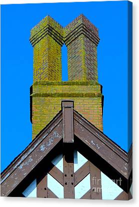 Chimney Abstract Canvas Print by Ed Weidman