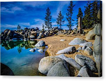 Chimney Beach Lake Tahoe Canvas Print