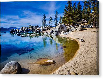Chimney Beach Lake Tahoe Shoreline Canvas Print