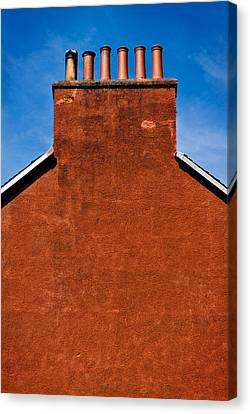 Canvas Print featuring the photograph Chimney Pots by Bud Simpson