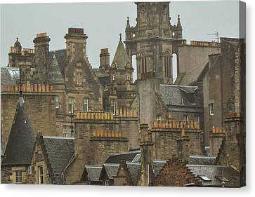Chimney Pots Of Edinburgh Canvas Print by Bill Mock