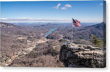 Chimney Rock And Lake Lure Canvas Print