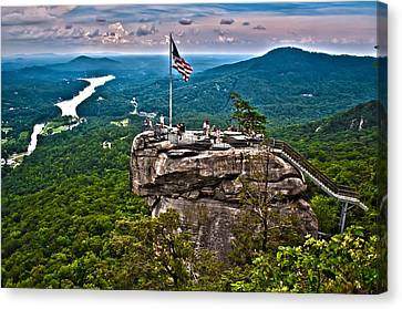 Canvas Print featuring the photograph Chimney Rock At Lake Lure by Alex Grichenko