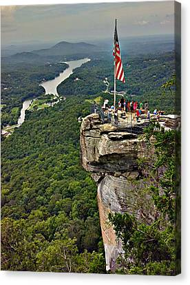 Canvas Print featuring the photograph Chimney Rock Overlook by Alex Grichenko