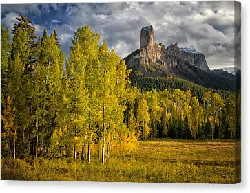 Chimney Rock San Juan Nf Colorado Img 9722 Canvas Print